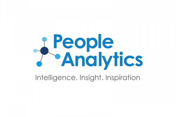 cubiks people analytics logo with connecting blue dots icon and strapline